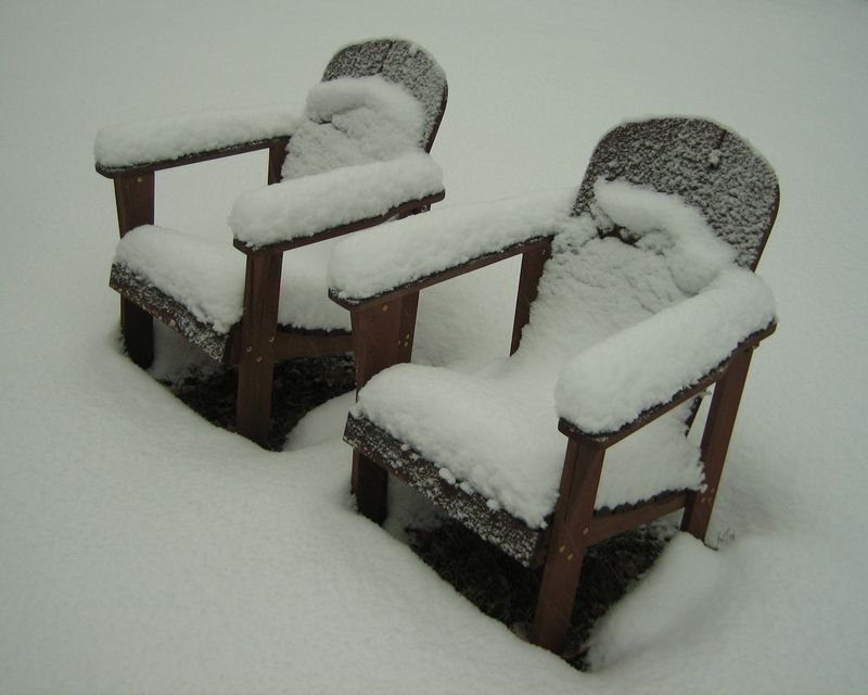 Snowy chairs cropped
