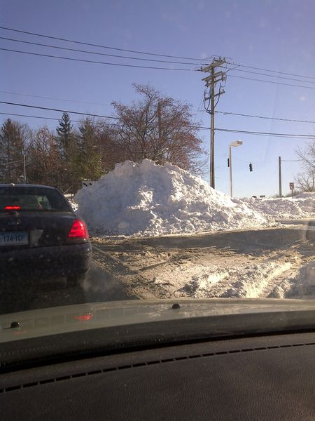 Glastonbury snow pile